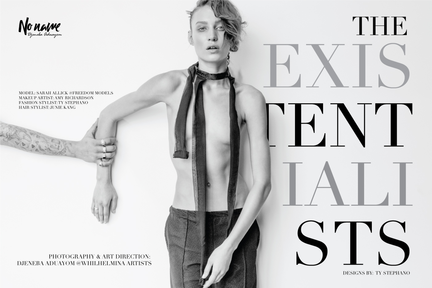 """""""Existentialists"""" a fashion story for No Name Magazine."""