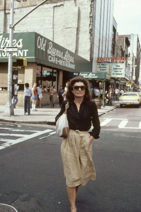 Jackie O 80s candid
