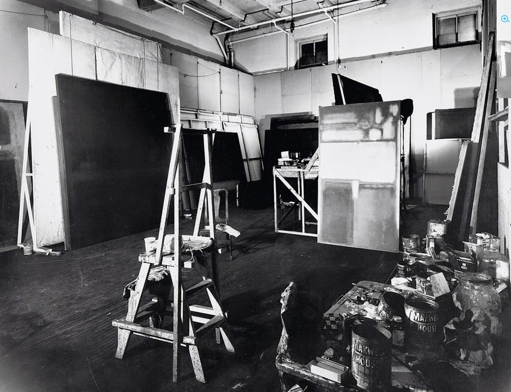 Mark Rothko's New York City studio
