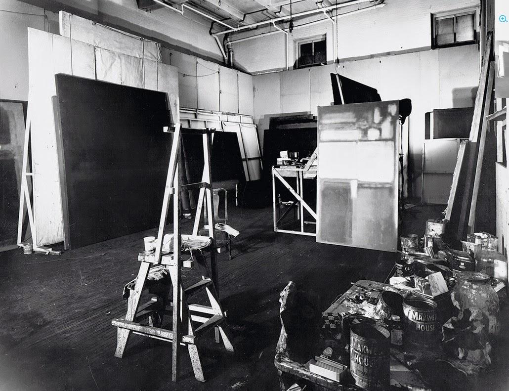 Mark Rothko's New York City studio