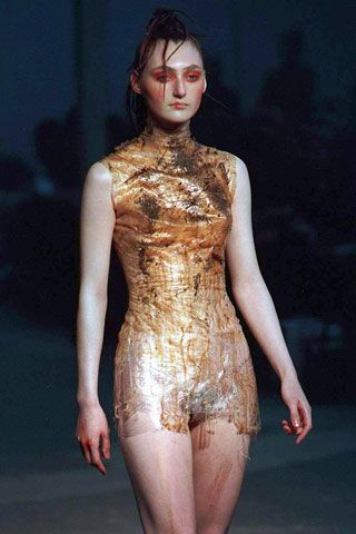 """Alexander McQueen started it all with his """"Nihilism"""" collection during Spring/Summer 1994. The designer's very first runway show set a dark precedent for the rest of his career."""
