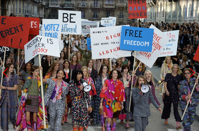 chanel feminist protest