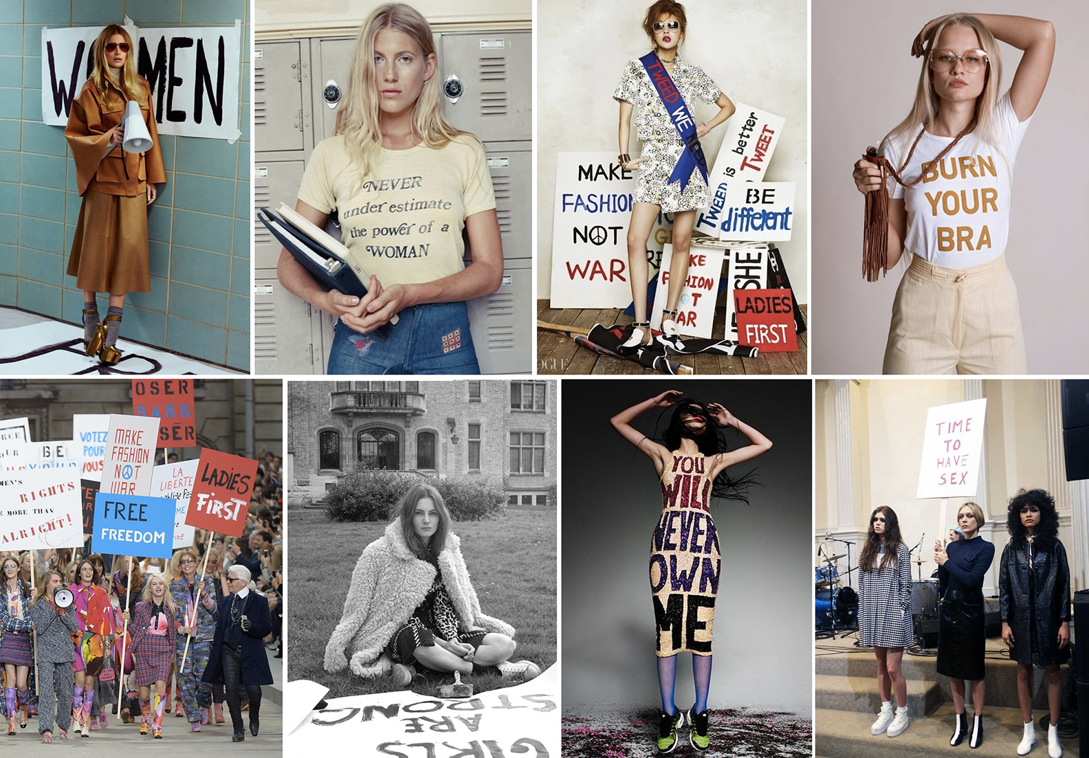 "Fashion taking ""inspiration"" from the women's liberation movement to sell clothes."