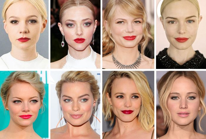 The female celebrity prototype; white, blonde and baby-faced.