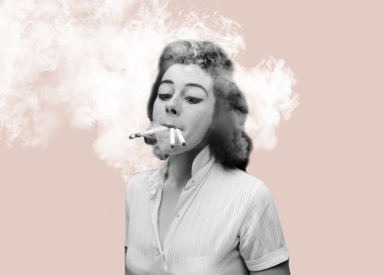 Smoking, Collage by Natalia Borecka
